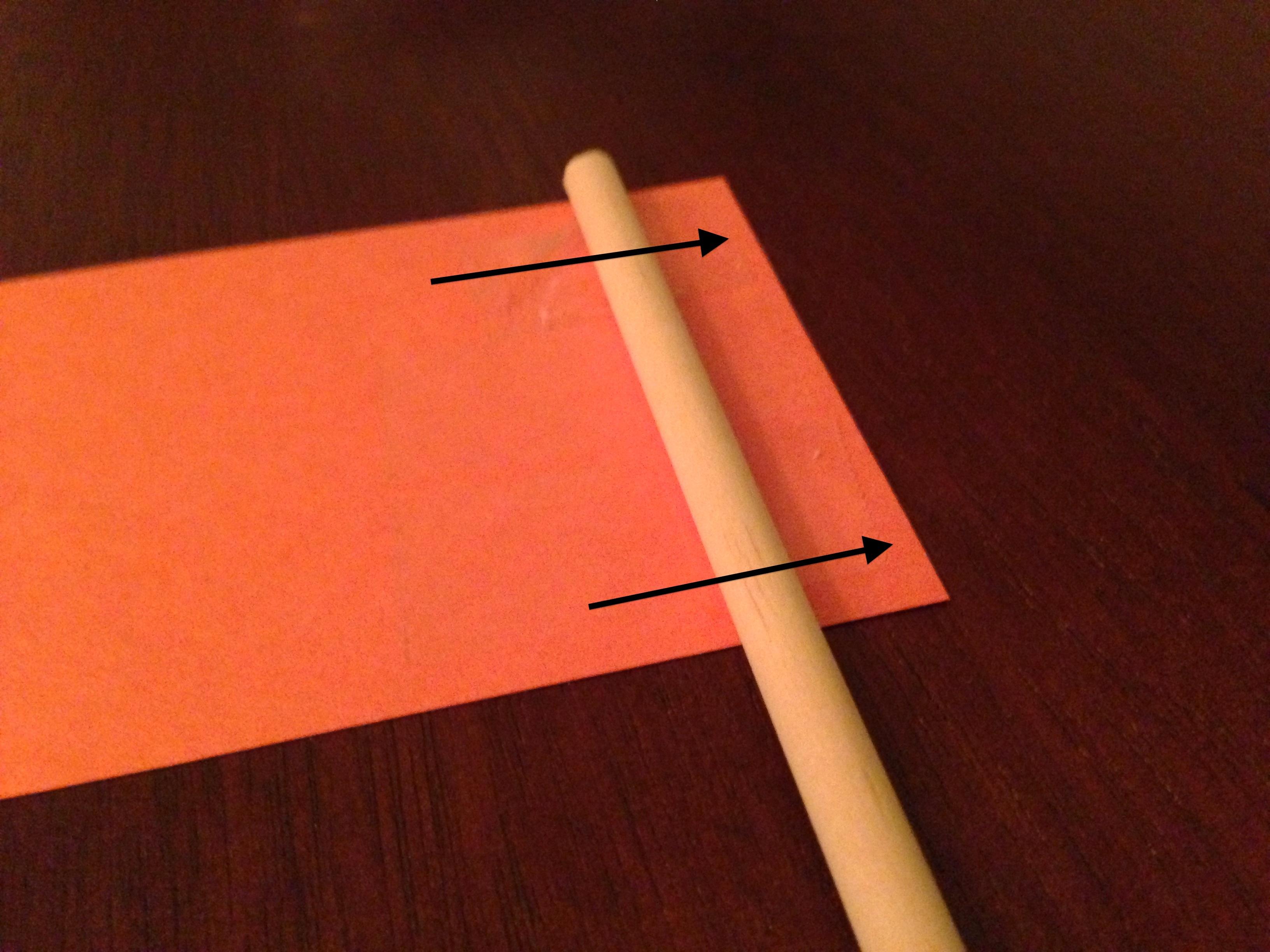 Custom paper stick flags