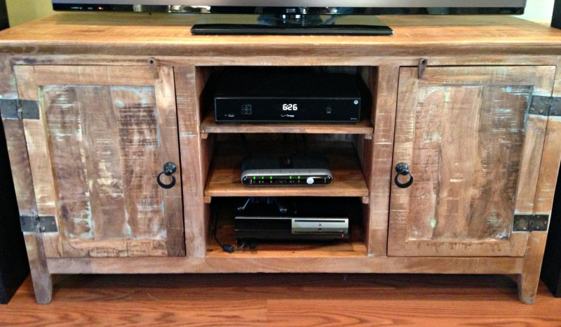 wood flat screen tv stand plans